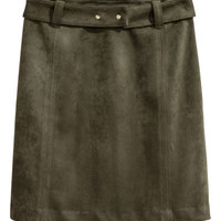 H&M Faux Suede Skirt $49.99