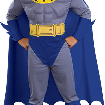 Batman Brave & Bold Deluxe M/C Batman Toddler / Child Costume - Toddler (2/4)