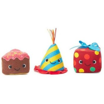 Happy Go Luckys Happy B-Day Mini Stuffed Animals, Set of 3