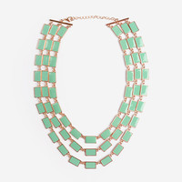Mint Rectangle Strand Necklace