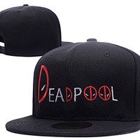 RHXING Deadpool Logo Adjustable Snapback Embroidery Hats Caps
