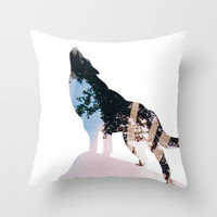 Wolf. Throw Pillow by ashleyduPuy | Society6