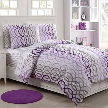 Victoria Classics Lauren Infinity Bed Set (Purple)