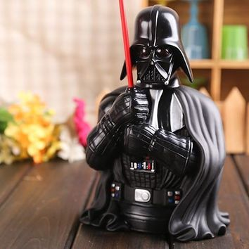 Star Wars Force Episode 1 2 3 4 5 Movie  Darth Vader Piggy Bank Save Money Box PVC Action Figure Collectible Model Toy 22cm KT425 AT_72_6