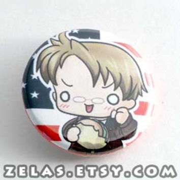 Chibi Anime Button: Hetalia - America