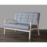 Baxton Studio Mid-Century Masterpieces Grey Loveseat | Overstock.com Shopping - The Best Deals on Sofas & Loveseats