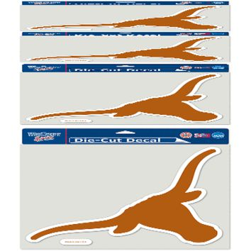 "TEXAS LONGHORNS LOGO 8""X8"" COLOR DIE CUT DECAL BRAND NEW  SHIPPING WINCRAFT"