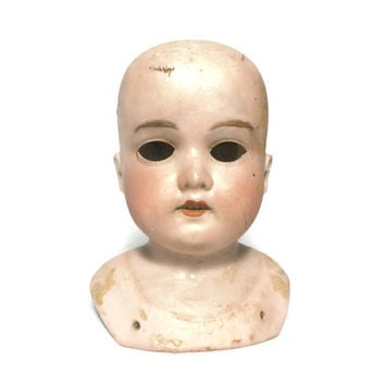 Antique Armand Marseille Porcelain Doll Head, Early 1900's Germany
