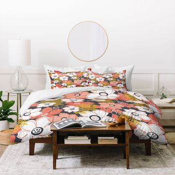 Heather Dutton Petals And Pods Lava Duvet Cover
