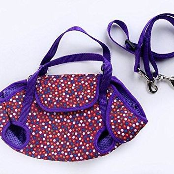 Nylon Mesh Pet Puppy Dog Cat Carrier Backpack Front Net Bag Tote Sling Carrier Purple Large