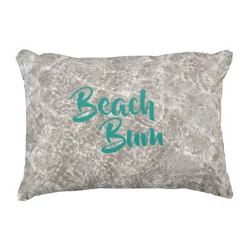 Sand and water beach bum pillow