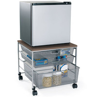 Platinum elfa Mesh Compact Fridge Cart
