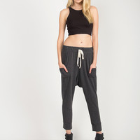 French Terry Harem Pants - Charcoal