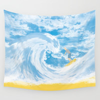 Surfer Wall Tapestry by Berwies