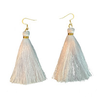 White Hot Tassel Earring