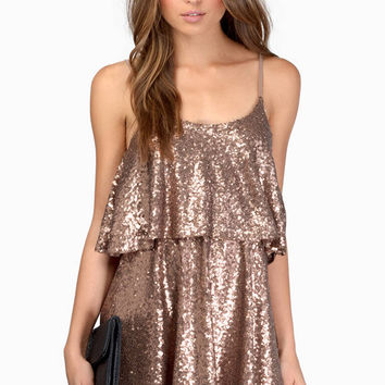 Sequin Tier Skater Dress