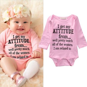 I Got my Attitude From... Newborn Girl's Bodysuit
