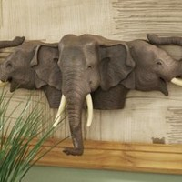 Wall Decor | Raised Expectations Elephant Wall Sculpture