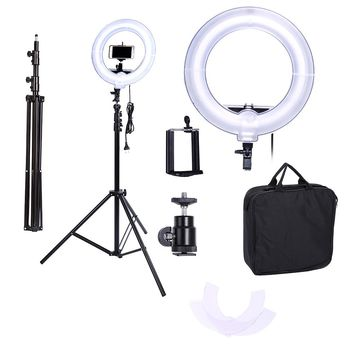 Camera Photo Video 13 inches Ring  Fluorescent Flash Light Lamp for Portrait,Photography,Video Shooting with Tripod