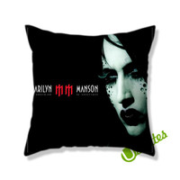 Marilyn Manson The Golden Of Grotesque Square Pillow Cover