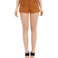 Mid Rise Shorts with Zip Detail