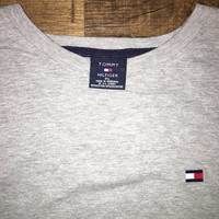 Vintage Tommy Hilfiger Spell Out Long Sleeve T Shirt