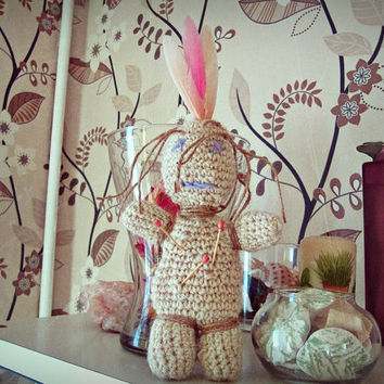 Gypsy Voodoo Doll - Creepy Doll - Boho Altar -  Bohemian Home Decor - Voodoo Altar - Made to Order