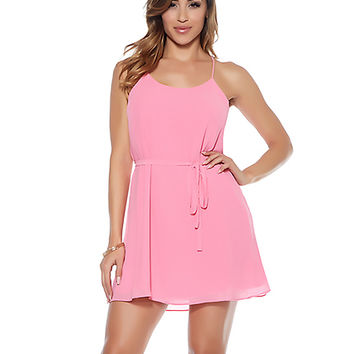 Chiffon Camisole Mini Dress-Clubwear Dresses
