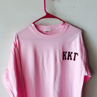 Sorority/Frat Monogrammed Long Sleeve Tee Shirt w/ Greek Letters - Comfort Colors