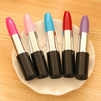 Kawaii ballpoint Pen lipstick pen pink/ blue School Supplies Korean Stationery novelty items ball pens Free shipping 407