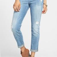 SP Black Destroyed Crop Skinny Jeans (Juniors)
