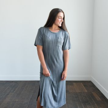 Parker Gray Stone Washed Dress
