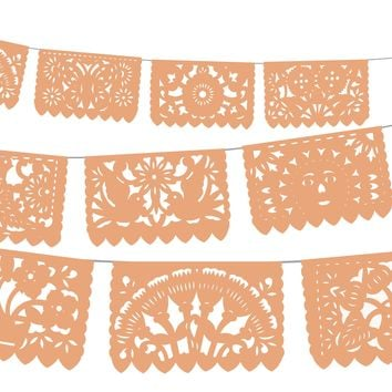 5 PACK, Papel Picado, 60 feet long banner, Fiesta Decorations, Mexican Party Supplies, Papel picado first birthday, WS75