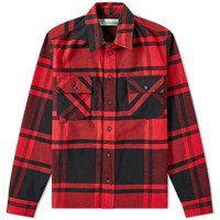 Stencil Flannel Shirt by OFF-WHITE