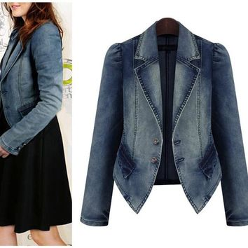 Womens Stylish Denim Casual Jacket