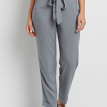 ankle pant with tie waist | maurices