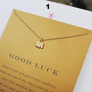 Dogeared Douglas Confidence Key Gold Plated Alloy Clavicle Short Necklace