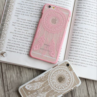 New simple creative dream catcher hard mobile phone case for iphone 7 5s SE 6 6s 6Plus 6S Plus+ Nice gift box