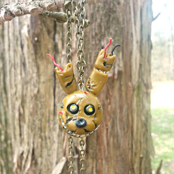 Five Nights at Freddy's Springtrap Pendant Necklace, Bonnie, Freddy Fazbear, Chica, Foxy, Creepy, Scary Game, Horror