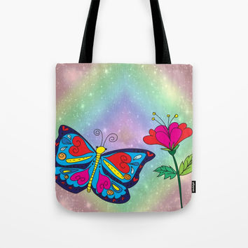 Love like a butterfly Tote Bag by Shashira Handmaker