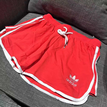 Adidas Women Fashion Red Running Shorts