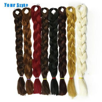 LMF78W Your Style 82'' 165g/Pack Synthetic 25 Color Kanekalon Braiding Crochet Jumbo Braids Hairstyles Hair Extensions Natural Hair