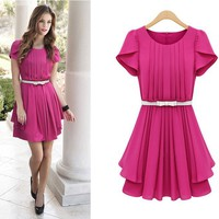 bsxg2312 — Chiffon dress in summer