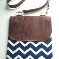 The Bethany Chevron Small Hipster Purse by tailoredhope on Etsy