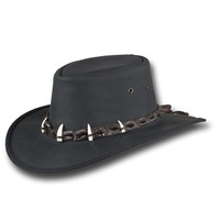 Barmah Hats Outback Crocodile Leather Hat 1033BL / 1033BR