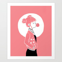 Pink Art Print by Tae V