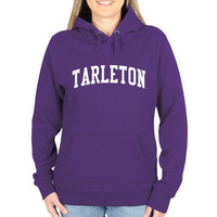 Tarleton State Texans Ladies Basic Arch Pullover Hoodie - Purple