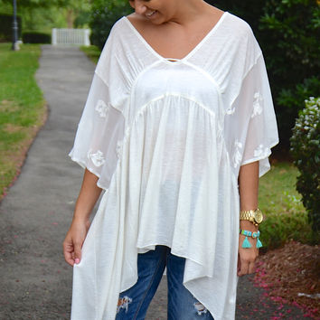 Sheer Away tunic, ivory