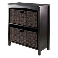 Winsome Terrace 3 Tier Storage Shelf with 2 Large Baskets
