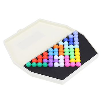 Classic Puzzle Pyramid Beads Plate IQ Pearl Logical Mind Game Brain Teaser Educational Toys for Children Christmas Gift